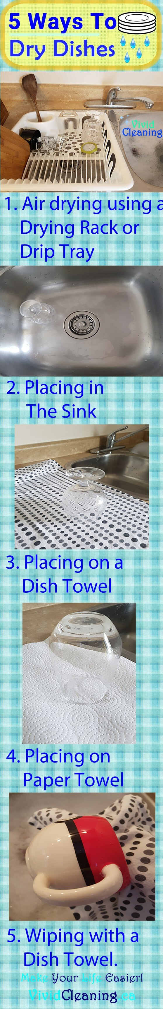 When it comes to drying dishes we may be limited for materials and space. Say you don't have drying rack. There are other ways to dry dishes without it. You could also be on a budget, don't have enough time to go shopping or need to do laundry. Here are alternative ways to dry dishes.