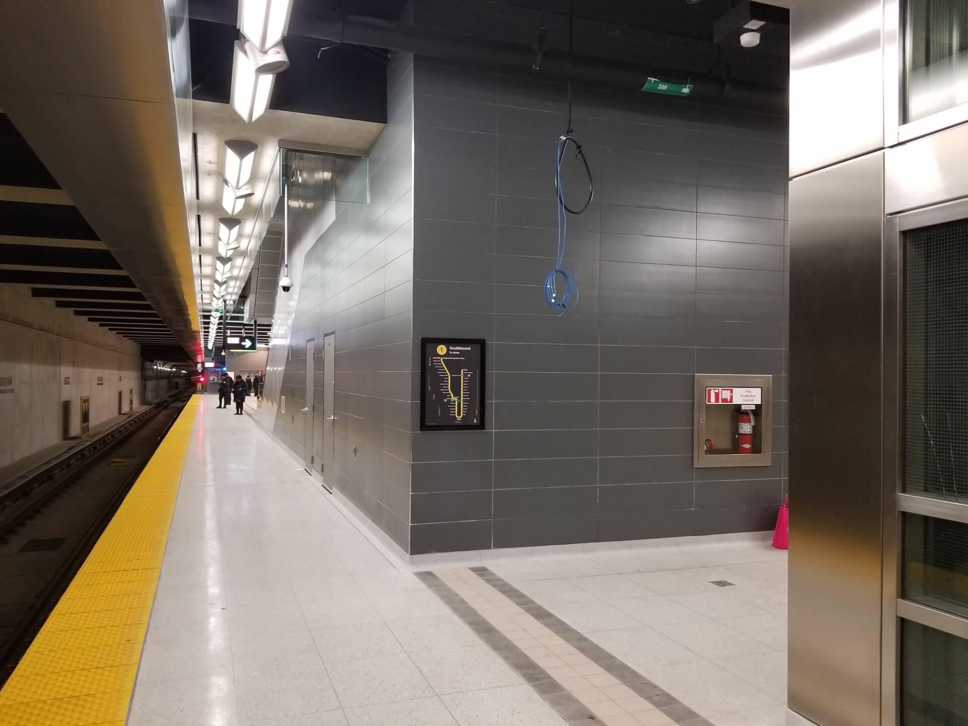 Vaughan metropolitan center subway station platform
